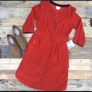 Anthropology Maeve button down dress 8